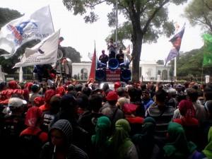 Aksi KSPI Jakarta 2 Oktober