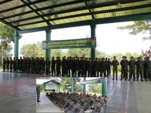 Garda Bima Sakti dilatih oleh Yonif 134/TS di Aula GSG Mako Yonif 134/TS, Barelang Batam pada awal September lalu. Kredit: korem033wp.mil.id