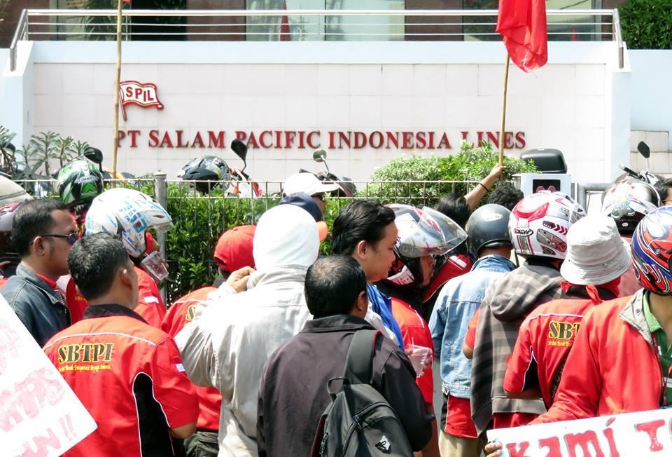 demo buruh PT SPIL