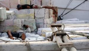 buruh pelabuhan istirahat