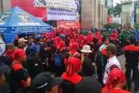 Buruh Juga Unjuk Rasa di Kemenaker dan DPR Tolak Kenaikan BBM