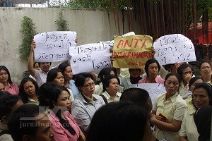 Unjuk rasa buruh PT Dewi Samudra Kusuma (kredit jurnalwarga.com)