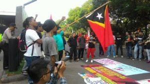 Bersolidaritas untuk Rakyat Timor Leste, PPRI Demo Kedubes Australia