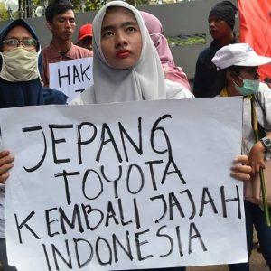 KSPBN Berdemo di 13 Kota: Tolak Penjajahan Modal Jepang dan Toyota