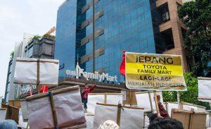 Aksi Serentak Buruh dan Mahasiswa Suarakan Tolak Penjajahan Modal Jepang