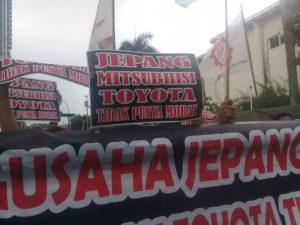 Buruh PT SENFU Tagih Tanggung Jawab Sosial Mitsubishi