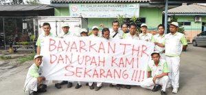 Gaji dan THR Buruh PT Galih Ayom Paramesti Belum Dibayar, Buruh Bersiap Mogok 15 Juli 2019