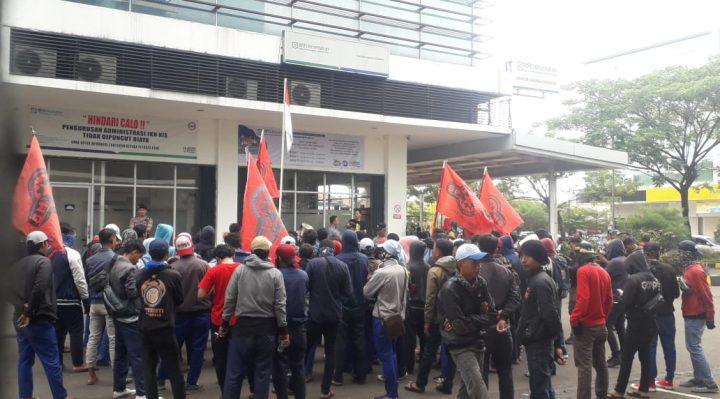demo buruh hrs indonesia ke BPJS
